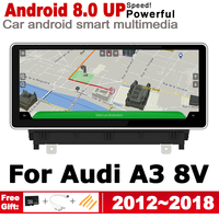 10.25 HD Screen Stereo Android 8.0 up Car GPS Navi Map For Audi A3 8V 2012 2019 Original Style Multimedia Player Auto Radio
