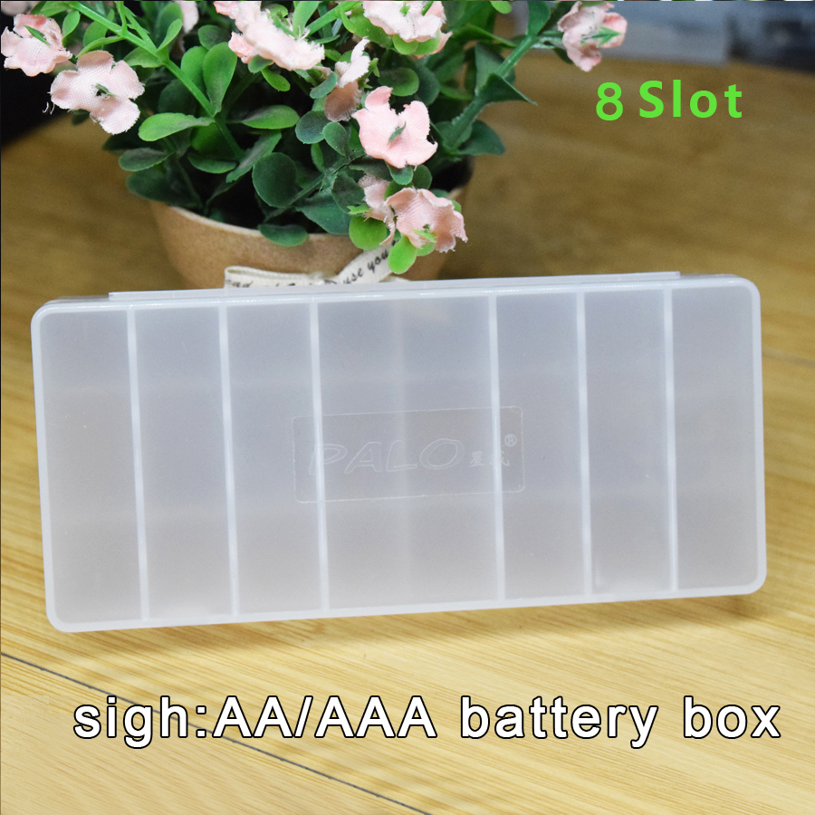8slot AA AAA Battery Container Portable Battery Case Holder Hard Plastic Storage Boxes for AA AAA Batteries AA AAA battery box 12pcs aaa to aa size cell battery converter adapter batteries holder case switcher for aaa to aa battery gdeals