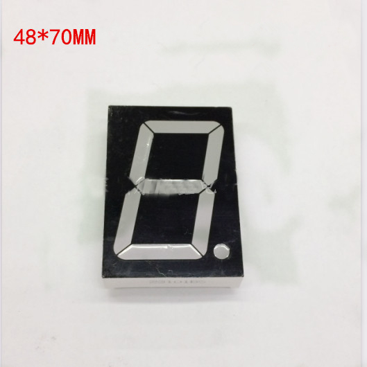Free Ship 30pc Common anode 2.3inch digital tube 1 bit digital tube display Red digital led tube 7.2V 4Core Factory direct