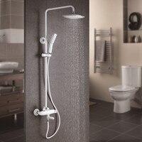 Promo Grifo de ducha cromado de lujo montado en la pared de estilo cuadrado de cascada de