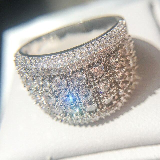 Купить женское кольцо из серебра 2019 пробы с фианитом