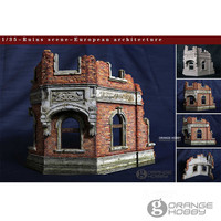 OHS CrazyKing DY35001 1/35 Ruins Scene European Architecture Assembly Resin Miniatures Accessories Model Building Kits oh
