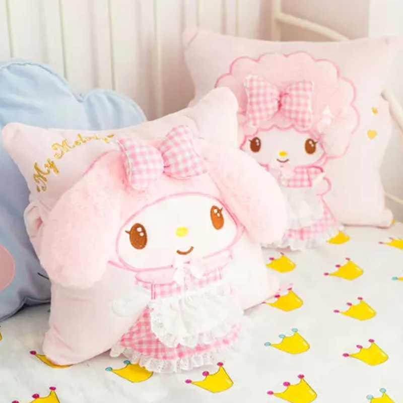 Cartoon sweet soft cloth lovely rabbit abb a doll children present office buffer a warm blanket to warm baby hand hold pillow