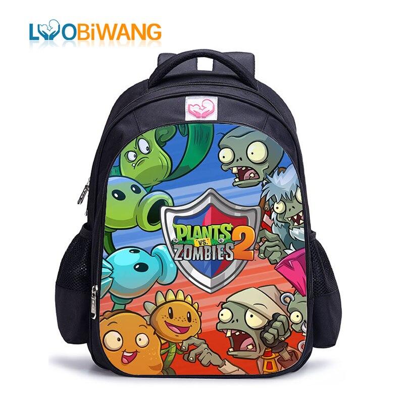 LUOBIWANG Plants VS Zombie Lovely Printing School Backpack Hot Game School Backpack For Girls Boys Book Bag Shoulder Backpacks