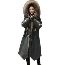 Removable Big Fur Collar Plus size Winter Jacket Women Long Womens Down Cotton Jackets 2018 New Parkas Hooded Woman Coat Ukraine