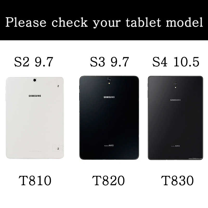 Case Voor Samsung Galaxy Tab S2 9.7 SM-T810 T815 T813N T819N S3 T820 T825 S4 10.5 T830 T835 fundas Stand Flip Cover Smart Cover