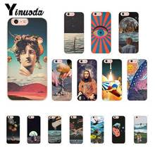 Yinuoda Vintage Trippy Art Books Aesthetic Phone Case for iPhone X XS MAX 6 6s 7 7plus 8 8Plus 5 5S SE XR 10 11 11pro 11promax