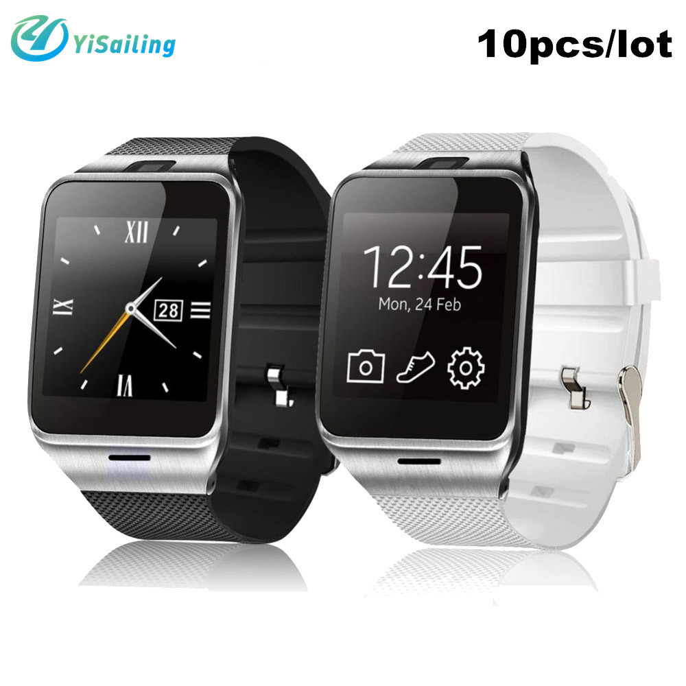 DHL 10pcs/lot Waterproof Smart watch Aplus GV18 watch phone NFC Camera wrist Wat
