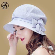 79ae1ab86cccb FS Light Purple Uv Foldable Sun Hats For Women Flower Floppy With Big Heads  Wide Brim Summer Visor Cap Beach Hat With Bow Sunhat