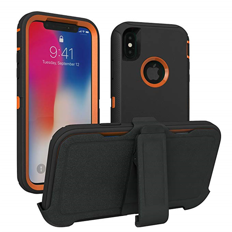 3 in 1 Armor Series Shock Proof Aqua Case for iPhone X XS MAX XR Defender Belt Clip Case for iPhone 11 Pro Max 6 6s 7 8 plus