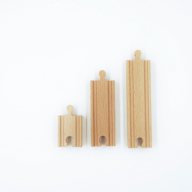 Wooden Train Track Accessories Thomas Railway Track Toys Compatible With Wood Trains DIY Railway Universal Accessories