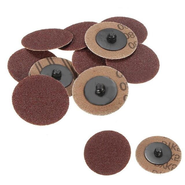50pcs Set 50mm Sanding Discs 80 Grit 2 Inch Roll Lock Grinding Disc For Abrasive