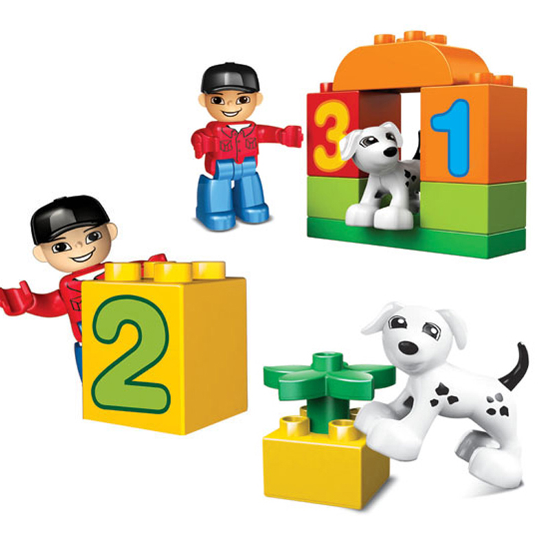 Image 5 - 50pcs Legoings Duplo Number Train Large particles Building Blocks Train Number Bricks Educational Baby City Toys For Children-in Blocks from Toys & Hobbies