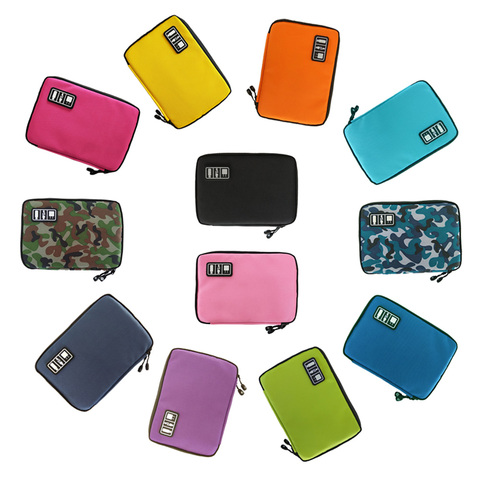 Gadget Cable Organizer Storage Bag Travel Electronic Accessories Cable Pouch Case USB Charger Power Bank Holder Digitals Kit Bag Lahore