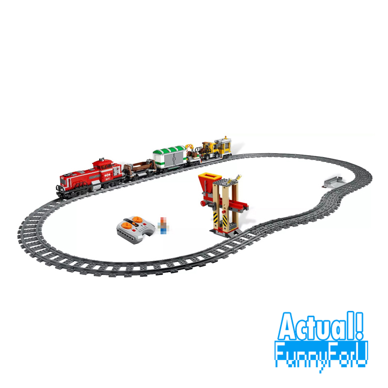 LEPIN 02039 Red Cargo Train City Remote Control RC Building Blocks Bricks Toys DIY For Boys oyuncak Compatible with 3677
