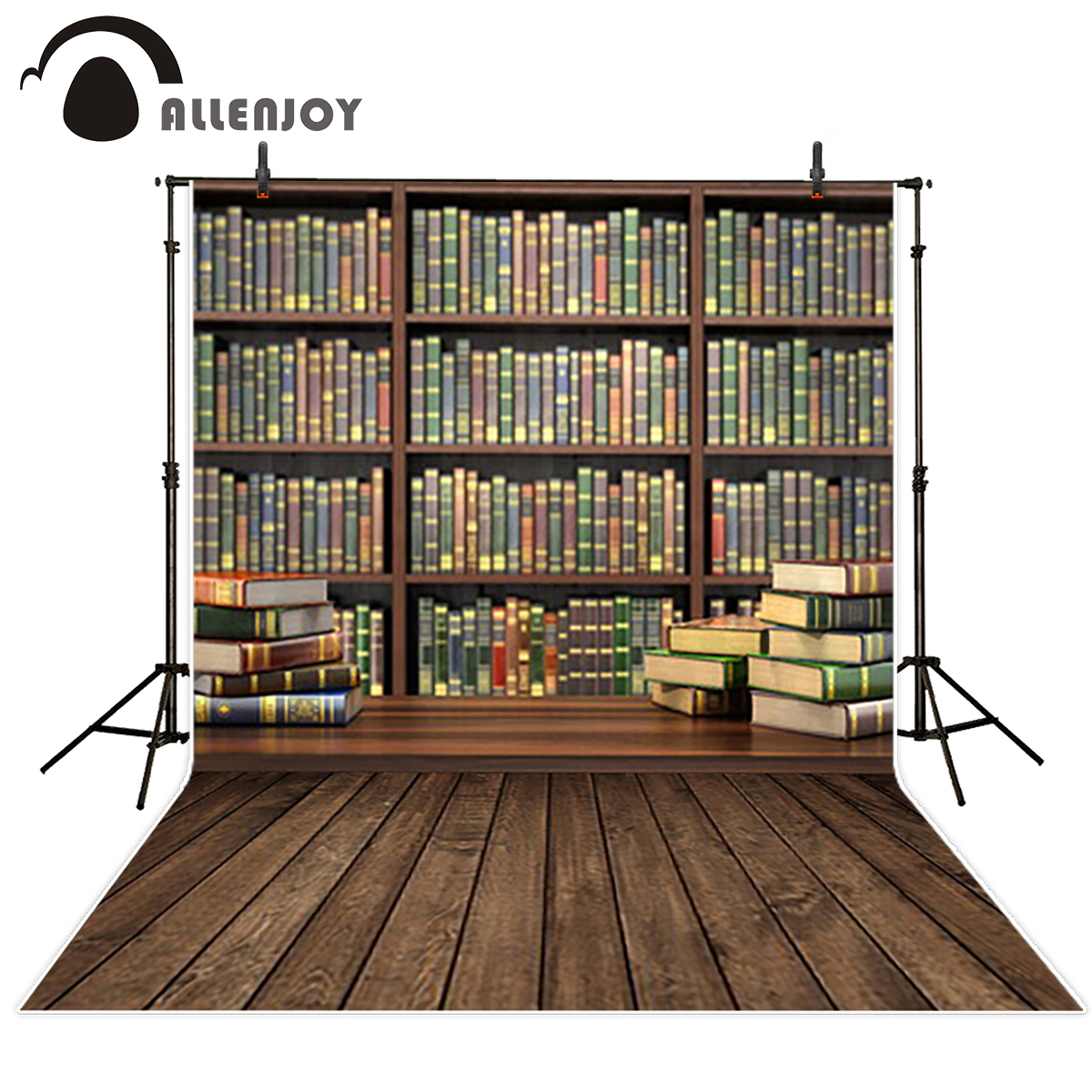 Allenjoy background for photographic studio Book Cabinets Learn education thin vinyl oxford polyester photography backdrops