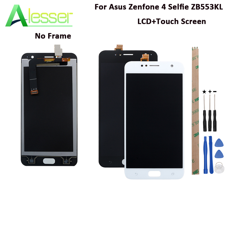 Alesser For Asus Zenfone 4 Selfie ZB553KL LCD Display And Touch Screen 5.5 Inch New 100% Tested Assembly +Tools And Adhesive