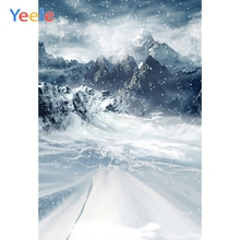 Yeele Winter Landscape Mountain Fallen Snowflake Photography Backdrops Personalized Photographic Backgrounds For Photo Studio