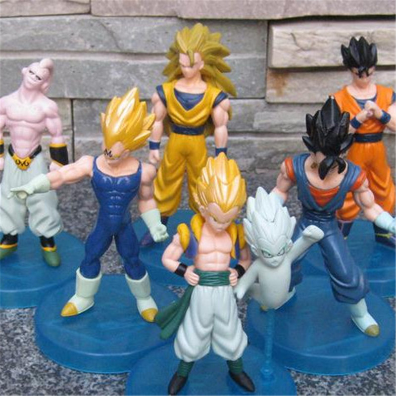 1pc/LOT Dragon Ball Set Son Goku/Vegeta/Buu/Gotenks/Gohan/Vegetto 6 Styles Dragon Ball Z 14cm PVC Action Figure Kids Toy Gifts anime dragon ball super saiyan 3 son gokou pvc action figure collectible model toy 18cm kt2841