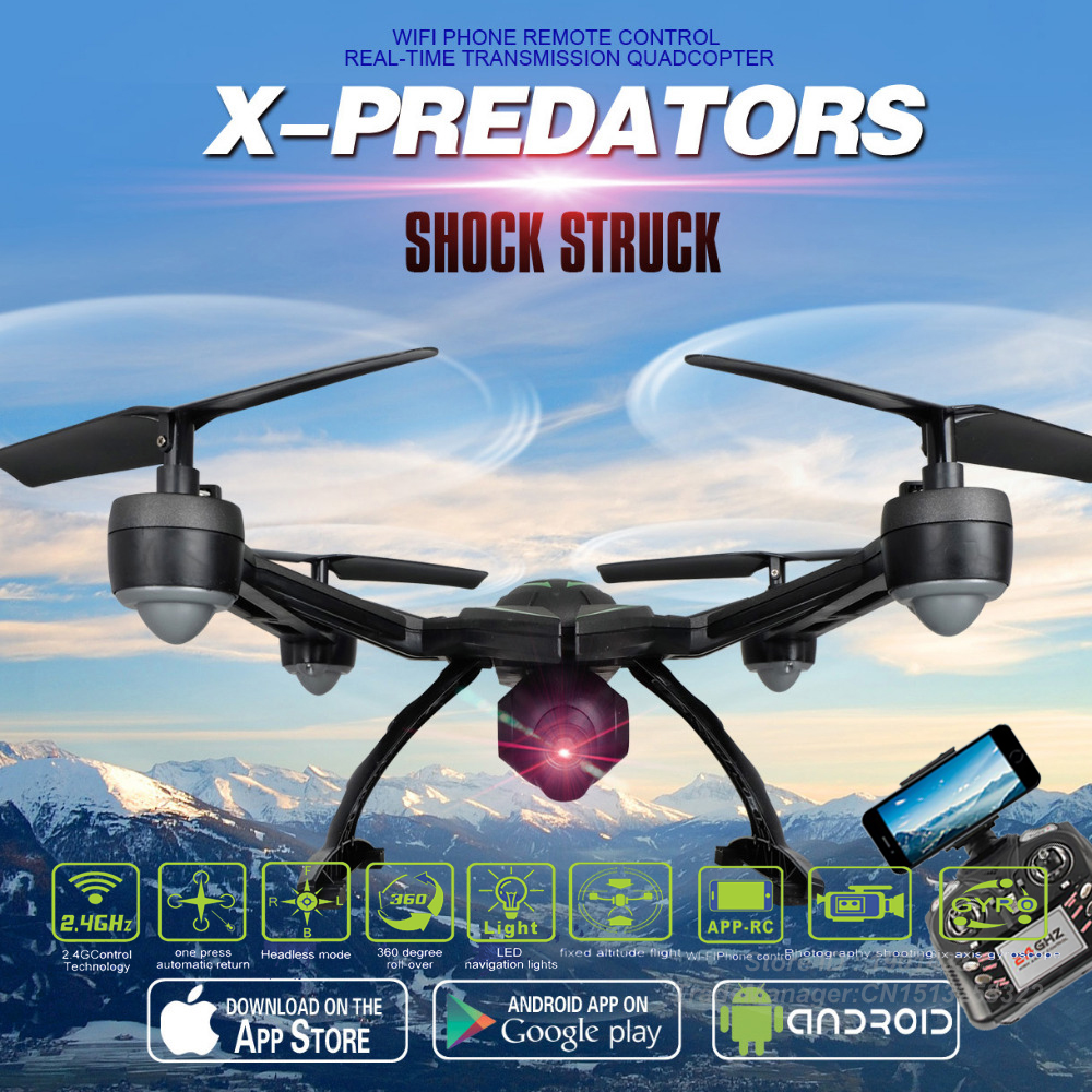 2016 Newest 2.4G 4CH 6-Axis Gyro Wifi FPV Camera RTF RC Quadcopter with One-key Return CF Mode 3D-flip High Hold Mode RC Drone 2016 new listing 898c 2 4g 4ch 6 axis gyro rtf led light remote control quadcopter auto return drone toy