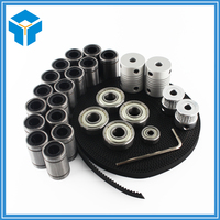 3d Printer Reprap Prusa I3 Movement Kit GT2 Belt Pulley 608zz Bearing Lm8uu 624zz Bearing 3D