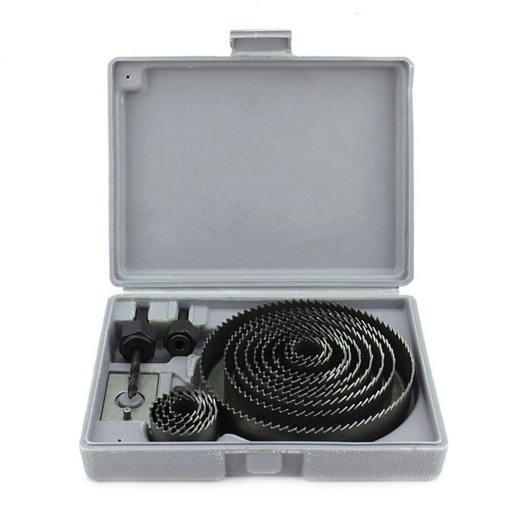 16 in 1 Hole Saw Drill Bit Cutter Set Holesaw Kit For Aluminum Sheet Plastic Wood (F22-16) 3/4 7/8 1 1-1/4 2 3 4 516 in 1 Hole Saw Drill Bit Cutter Set Holesaw Kit For Aluminum Sheet Plastic Wood (F22-16) 3/4 7/8 1 1-1/4 2 3 4 5