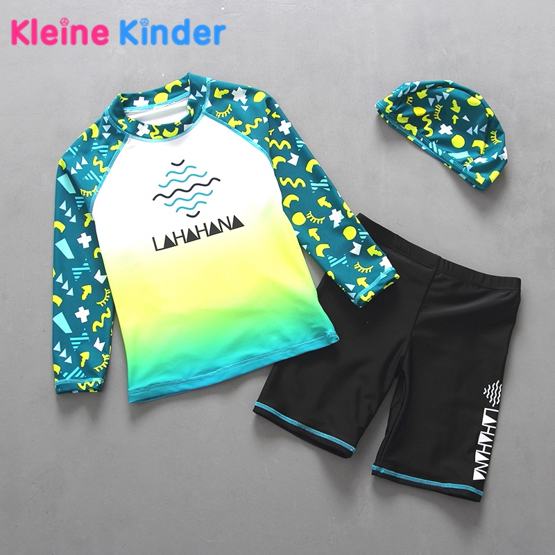 Exporting Quality Toddler Baby Boys Swimwear 2-Piece Rash Guard Swimsuits for Boy Children Kids Swimsuit Pool Beach Wear 2-6YRS