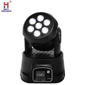 Wash Moving Head Stage Light 7x12W RGBW Mini Moving Beams Rotating Head lighting for Bars Disco