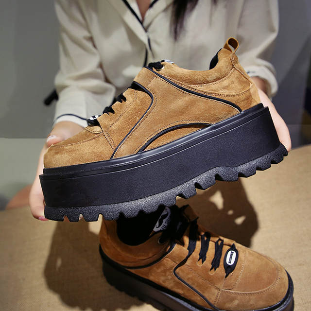 724a23ed43bb Aphixta Platform Lace-up Ankle Winter Shoes Women Boots High Quality Height  Increasing Ladies Shoes