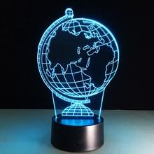 Acrylic Art Stereo Nightlight Tellurion font b LED b font font b 3D b font Lamp