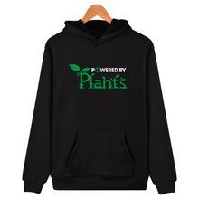 New Fashion Brand Promote To Be Vegan Hoodie Sweatshirt Powered By Plants Mens Casual Clothes  Hip Hop Hooded Sweatshirt 3xl