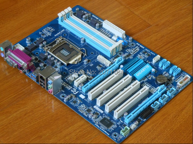 ФОТО Free shipping for Gigabyte GA-P75-D3 1155 sata3 usb3.0 large board solid-state independent