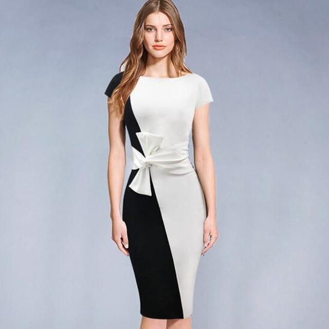 Aliexpress Com Buy Adogirl Women Fashion Ol Office Dress With
