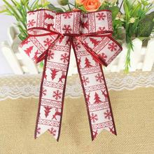 Romantic Rosette Hanging Charm Ribbon Party Decoration Christmas Tree Ornament christmas decorations for home