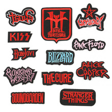 Computer embroidery new cloth label adhesive patch posted spot English letter badge stickers custom models