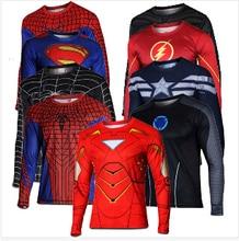 2016 бэтмен человек паук Ironman супермен капитан америка мстители костюм супергероя солдат чудо комиксы мужские стиль майка