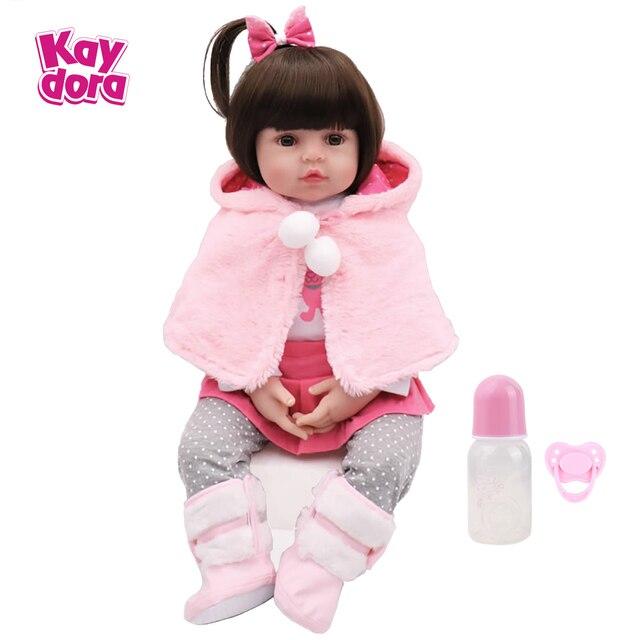 Polegada 45 18 centímetros Silicone Renascer Baby Dolls Bebê Vivo Realistas Boneca Bebe lol Realistas Reais Brinquedos de Aniversário Da Menina Da Menina para As Crianças