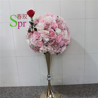 SPR 40cm Free shipping!2pcs/lot wedding road lead artificial flower ball table flowers centerpiece flower balls decoration