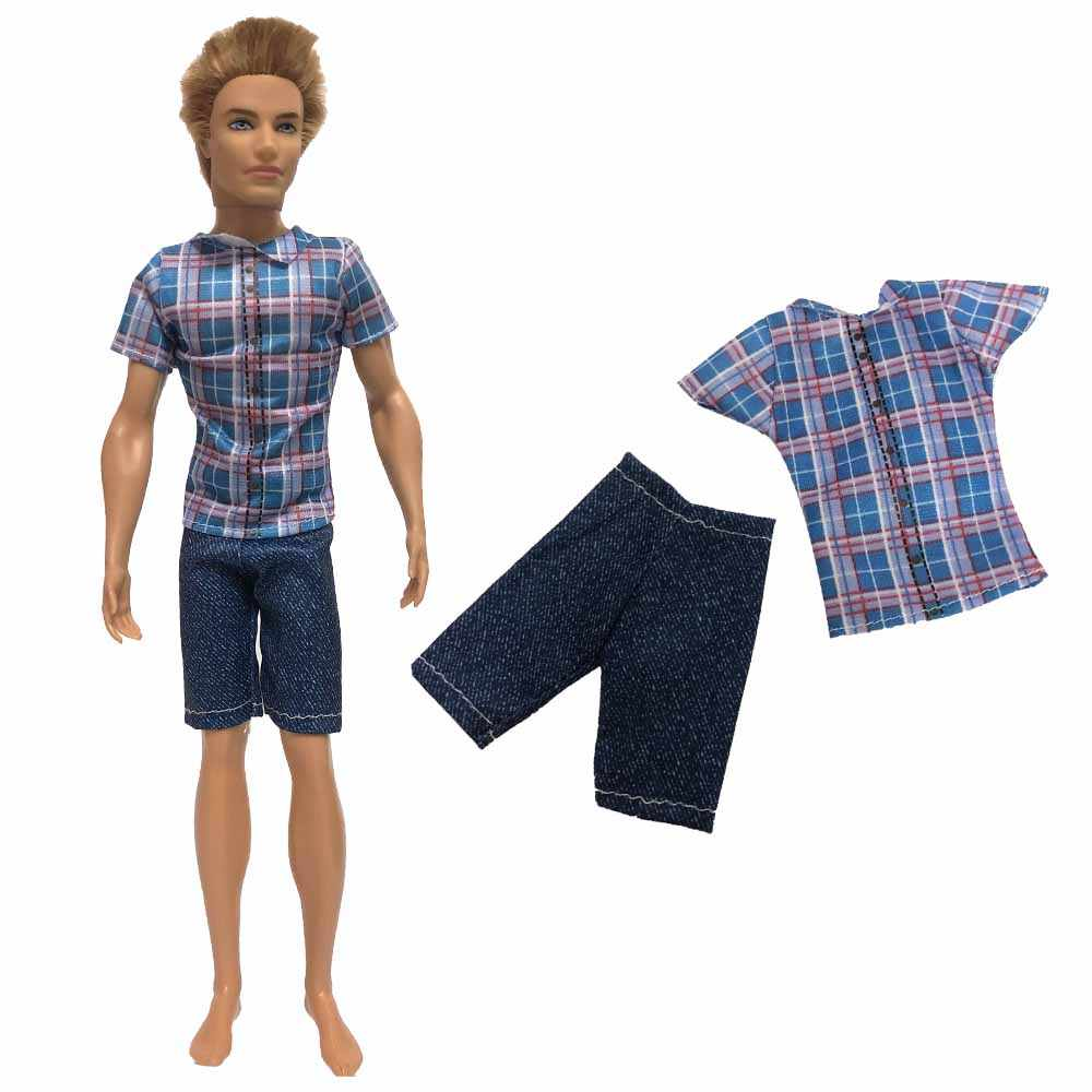 NK 2019 ใหม่ Prince Ken เสื้อผ้าตุ๊กตาสวมชุดสูท Cool ชุดสำหรับตุ๊กตาบาร์บี้ Boy KEN ตุ๊กตาของเล่นเด็กนำเสนอของขวัญ 020G
