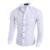 Hombres de la Camisa del punto de Polca Casual-shirt 2016 Otoño Primavera Moda Para Hombre Camisas de Vestir Casual Camisa de Los Hombres de Color Caqui Blanco Azul