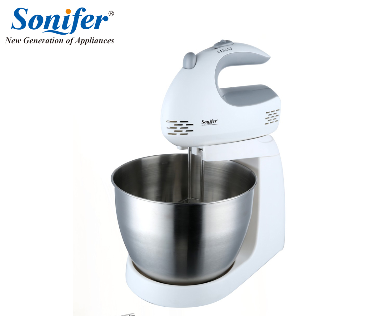 Multifunction Table Electric Food Mixers Dough Mixer Egg Beater 220v Food Blender for Kitchen Sonifer jiqi multifunction table electric food mixer table handheld egg beater blender for baking with 7 speed automatic whisk eu usplug