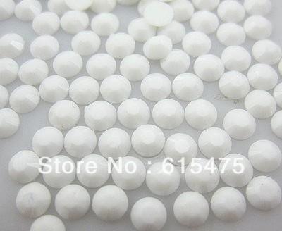 5mm Branco Cor SS20 strass Resina cristal flatback, Nail Art Pedrinhas, 30,000 pçs/saco