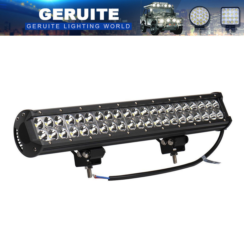 3 UNIDS 126W 42x 3W 12600 LM 12-24V LED Light Bar Como LED Luz de trabajo Luz de Inundación Spot Light Led Car Para Canotaje Caza Pesca