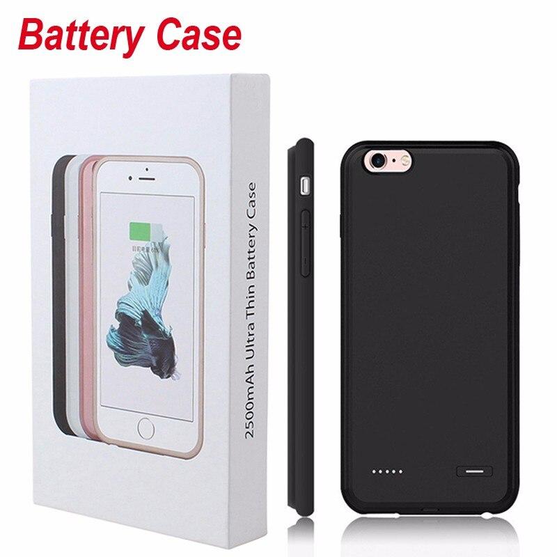imágenes para Caja del teléfono ultra delgado para iphone 6 6 s 7 batería de reserva externa cubierta del cargador para el iphone 6 6 s plus caso banco de la energía batería del teléfono