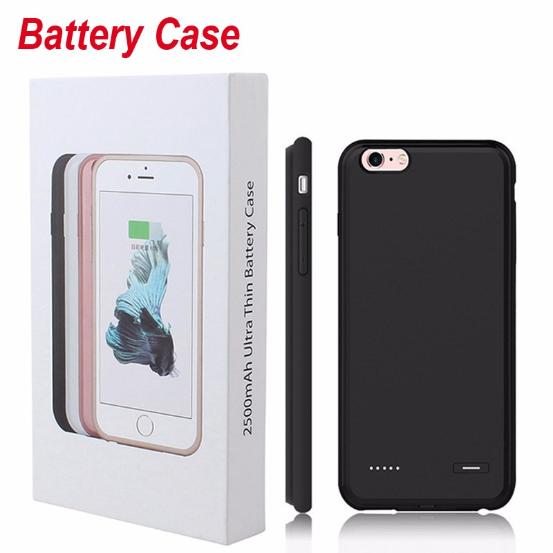 bilder für Ultradünne telefonkasten für iphone 6 6 s 7 externe backup-batterie ladegerät abdeckung für iphone 6 6 s plus energienbank fall telefon batterie