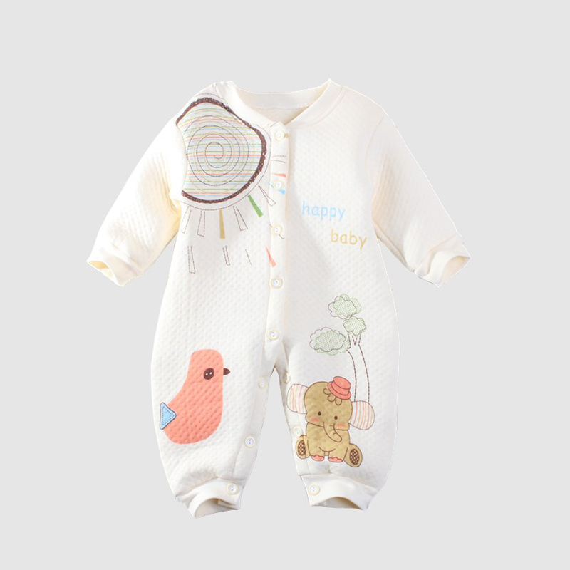2017 Winter 0-1Y Toddler Baby Coveralls Romper Cotton Warm Climbing Clothes Newborn Infant Cartoon Animals Jumpsuit Clothing puseky 2017 infant romper baby boys girls jumpsuit newborn bebe clothing hooded toddler baby clothes cute panda romper costumes