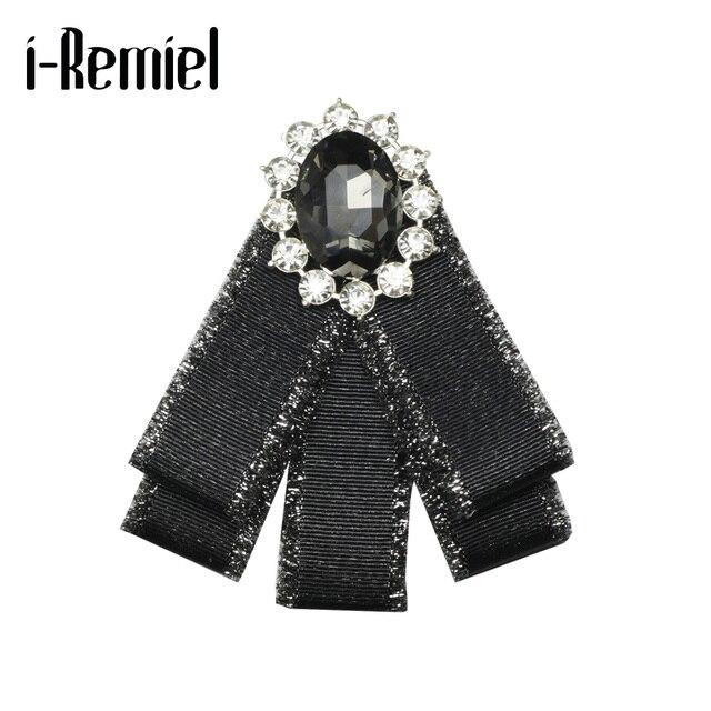 Я-Remiel галстук-бабочка брошь ленты и броши для свадебное платье Harajuku Бизнес блузка Мода значок галстук для девочек для женщин
