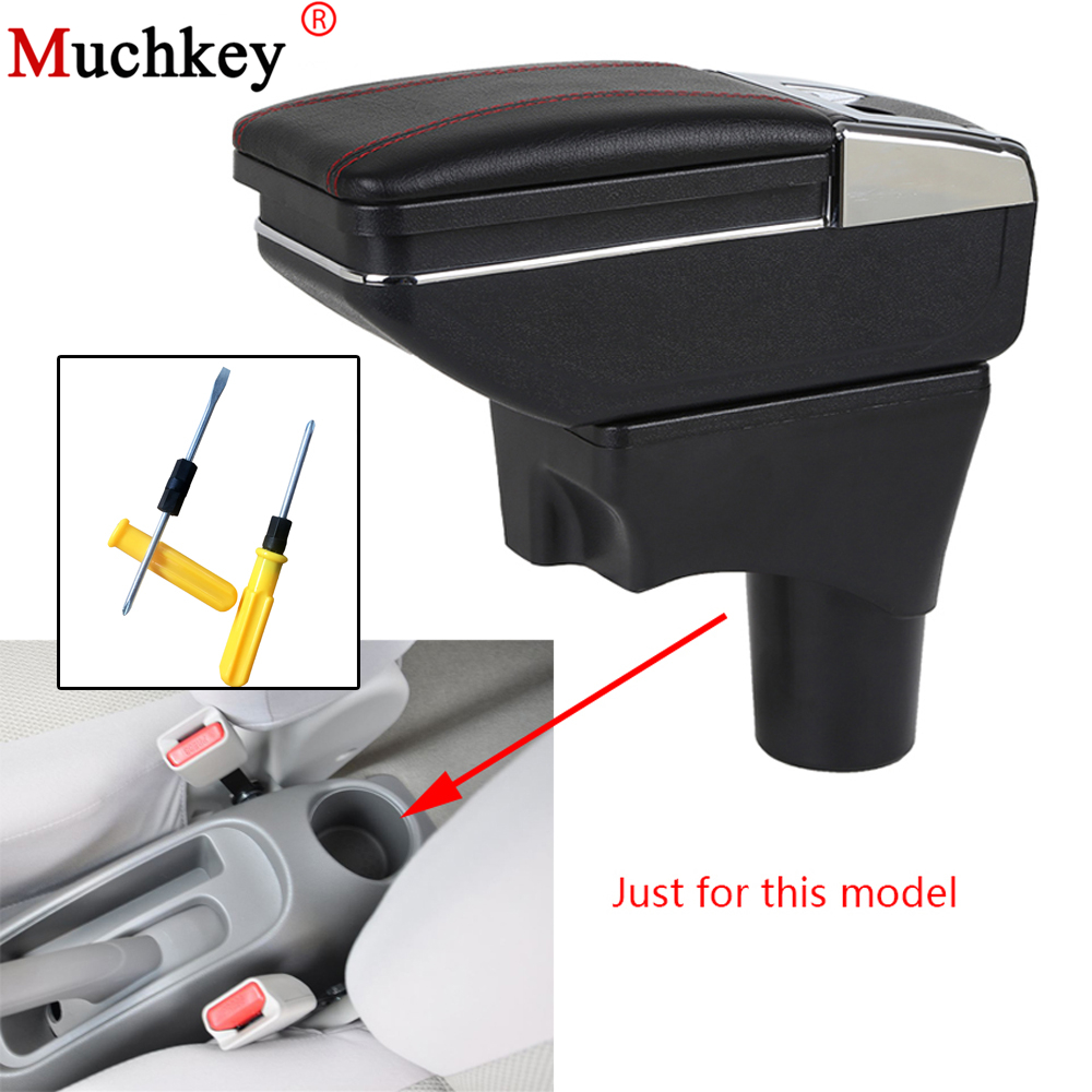 Car Armrest box For Nissan Micra March 2010-2016 central Console Arm Store content box cup holder ashtray PU Leather Car Styling universal leather car armrest central store content storage box with cup holder center console armrests free shipping