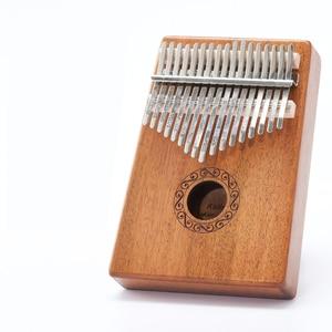 Image 2 - Scoutdoor 17 Keys Kalimba Thumb Piano Made By Single Board High Quality Wood Mahogany Body Musical Instrument