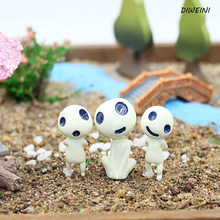 4Pcs/set Hot sale Diffirent Style Elves Ghibli Moss Micro - Landscape Material Cartoon Garden Potted Decoration(China)